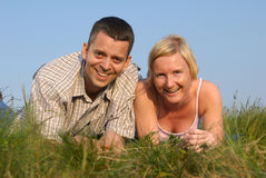 Young couple in nature Stock Photography