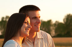 Young couple in the nature Stock Images