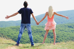 Young couple in nature Stock Image