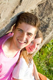 Young couple in nature Royalty Free Stock Photos