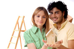 Young couple and new home Stock Photography