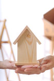 Young couple and new home. Young couple purchase new home Stock Photos