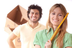 Young couple and new home Stock Image