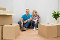 Young Couple In New House Royalty Free Stock Photos