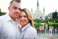 Young Couple in New Orleans. A young couple visiting the French Quarter of New Orleans, LA Stock Photo