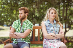 Young couple not talking after argument Royalty Free Stock Photos