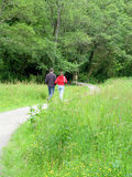 Young Couple out Walking Stock Photography