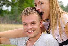 Young couple outdoor Royalty Free Stock Photo