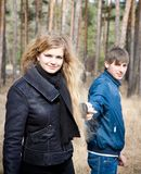 Young couple in outdoor Stock Photo