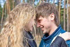 Young couple in outdoor Stock Photos