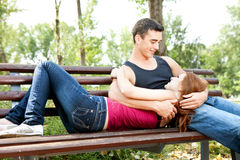 Young couple outdoor Royalty Free Stock Image