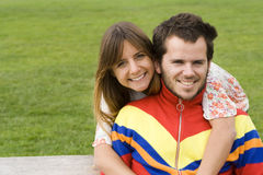 Young couple outdoor Royalty Free Stock Photos