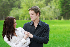 Young couple outdoors Stock Photos