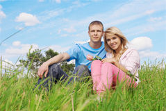 Young couple outdoors Stock Photos
