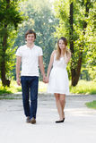 Young couple outdoors Stock Photo