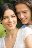 Young couple, outdoors Stock Photography