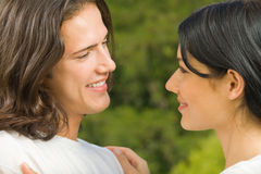 Young couple, outdoors Stock Photo