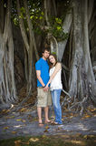 Young couple outdoors Stock Photography