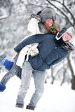 Young couple outdoors fun Royalty Free Stock Photos