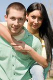 Young couple outdoors happiness Stock Photography