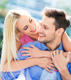 Young couple outdoors Royalty Free Stock Photos