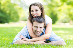 Young couple outdoors Royalty Free Stock Photo