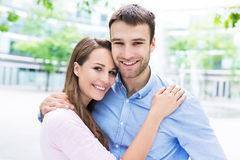 Young couple outdoors Stock Image