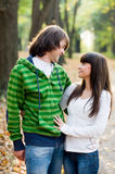 Young couple outside Stock Image