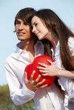 Young couple in park Stock Image