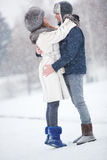 Young couple in a park Stock Images