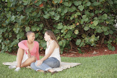 Young couple in the park Royalty Free Stock Image
