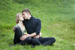 Young couple in the park Stock Photography