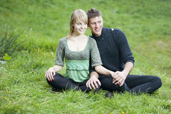 Young couple in the park Royalty Free Stock Photo