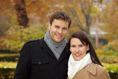 Young couple in park Royalty Free Stock Photography