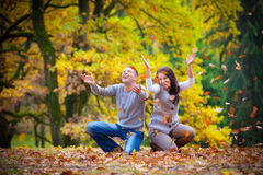 Young couple at the park Royalty Free Stock Photos