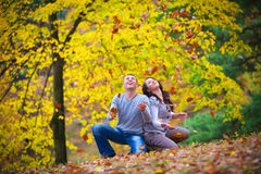 Young couple at the park Stock Image