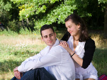 Young couple at park Stock Photography
