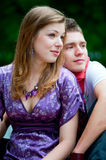 Young couple in park Royalty Free Stock Images