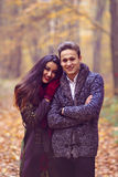 Young couple in the park Stock Images