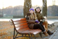 Young couple at the park Royalty Free Stock Photo