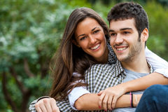 Young couple in park. Stock Image