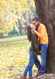 Young couple in park Stock Photography