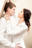 Young couple passion. Bright colors Royalty Free Stock Photography