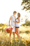 Young couple on picnic Stock Photography