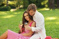Young couple at picnic Royalty Free Stock Photography