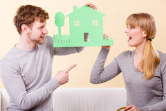 Young couple planning future. Stock Images