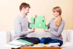 Young couple planning future. Royalty Free Stock Images
