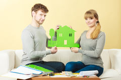 Young couple planning future. Royalty Free Stock Photography