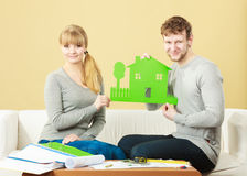 Young couple planning future. Stock Photos