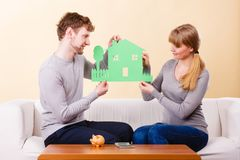 Young couple planning future. Royalty Free Stock Photo